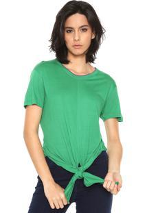 Camiseta Ellus Retilinea Amarração Verde