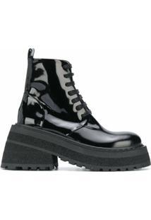 Marsèll Ankle Boot Com Solado Chunky - Preto
