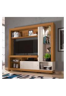 Estante Home Theater Frizz Para Tv Até 50 Polegadas Naturale E Off White Madetec