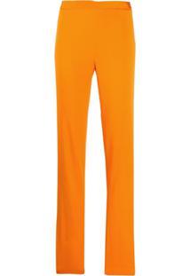 Versace Calça Cintura Alta Laranja - A1164 Orange