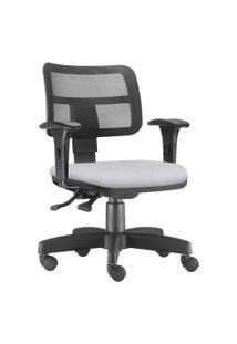 Cadeira Giratória Executiva Lyam Decor Zip Corino Branco