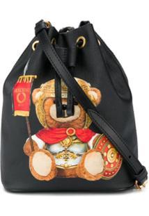 Moschino Bolsa Saco Teddy Bear - Preto