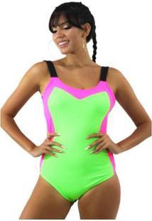 Body Neon Com Alcinha Neon Feminino - Feminino-Verde