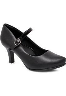 Sapato Scarpin Comfortflex 1985404 Feminino - Feminino-Preto