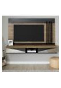 Painel Para Tv Até 65 Polegadas Mônaco Marrom E Preto 180 Cm