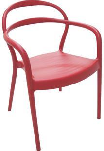 Cadeira Sissi Com Braço Vermelha 92045040 Tramontina