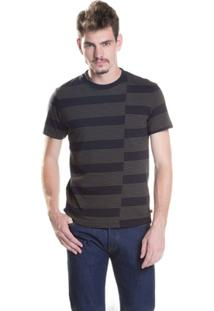 Camiseta Sunset Pieced Crew Neck - Masculino