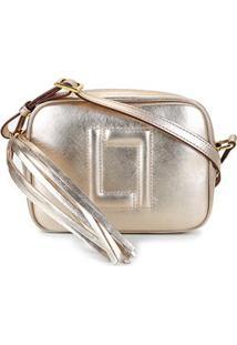 Bolsa Couro Luz Da Lua Mini Bag Barbicachos Feminina - Feminino-Ouro