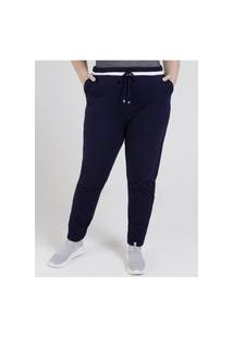 Calça Jogger Lunender Plus Size Feminina Azul Marinho