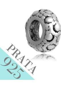 Pingente Prata 925 Berloque Redondo Memories Kumbayá Joias - Feminino-Prata
