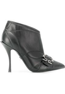 Dolce & Gabbana Bota Matelassê De Couro Com Fivela - Preto