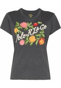 Polo Ralph Lauren Camiseta Com Logo Floral - Preto