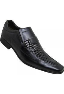Sapato Calprado Metalizado Social S/ Cadarço Masculino