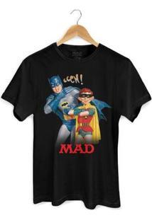 Camiseta Bandup! Batman E Mad - Masculino-Preto