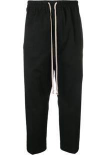 Rick Owens Drop-Crotch Trousers - Preto