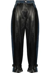 Alexander Mcqueen Calça Jeans Com Recortes - Preto