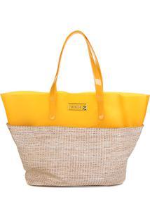 Bolsa Petite Jolie Shopper Judy Feminina - Feminino-Amarelo