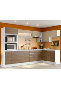 Cozinha Completa 100% Mdf Madesa Smart Modulada De Canto