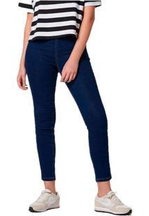 Calça Jeans Feminina Modelagem Jegging Com Elastan