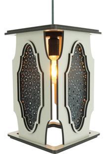 Luminária Pendente Marroquino Crie Casa Bege Grande
