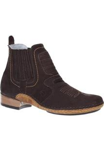 Bota Couro Cow Way 20535 Masculina - Masculino-Cafe