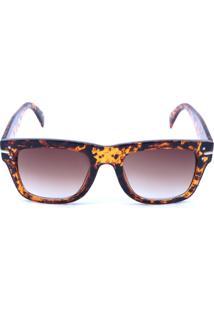 0c0194903eb07 Tricae. Óculos De Sol Rider Feminino Degradê Animal Print ...