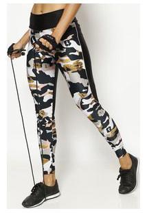 Body For Sure Legging Camuflada Verde & Preta
