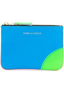 Comme Des Garçons Wallet Porta-Moedas Color Block - Laranja