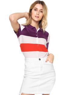 8b35691f54 Ir para a loja  Camisa Polo Lacoste Color Roxa Branco