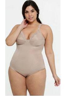 Body Feminino Modelador Sem Bojo Plus Size Dilady