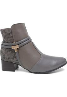 Bota Ramarim 17-59103 Ankle Boot Feminina Taupy