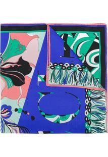 Emilio Pucci Lenço Com Logo - Azul