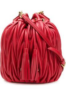 Miu Miu Matelassé Bucket Bag - Vermelho