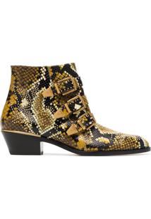 Chloé Ankle Boot 'Susanna' De Couro - 260 Sunny Brown