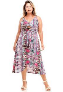 Calça Flare Melinde Plus Size Premium Feminina - Feminino-Pink