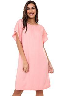 Vestido Mercatto Curto Liso Rosa
