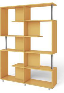 Estante Para Livros 5 Prateleiras Retrô Rt 3071 Amarelo - Móvel Bento