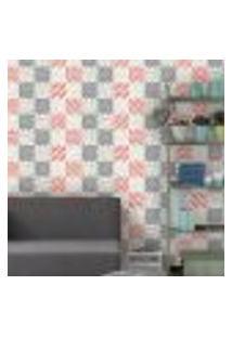 Papel De Parede Autocolante Rolo 0,58 X 3M - Azulejo Floral 232743748