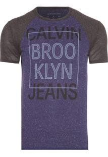 Camiseta Masculina Estampa Calvin Brooklyn - Azul