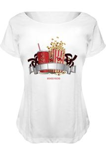Camiseta Baby Look Nerderia Movie Rocks Branco
