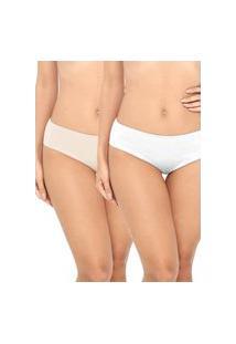 Kit Calcinha Love Secret Branco Nude