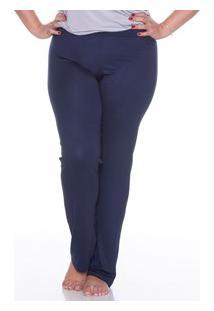 Calça Lisa 100% Algodão E-Pijama (5435) Plus Size