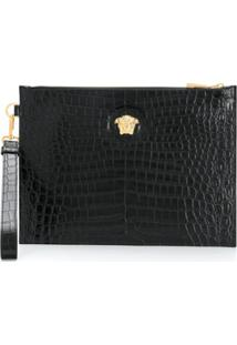 Versace Medusa Head Clutch Bag - Preto