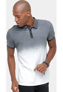 Camisa Polo Calvin Klein Piquet Degradê Color Masculina - Masculino