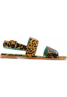 Blue Bird Shoes Sandália Rasteira Onça Itacaré - Estampado