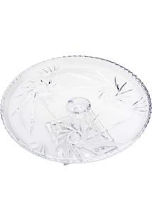 Prato Para Bolo Lyor Com Pé De Cristal Prima 30,5X12Cm Transparente