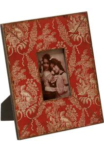 Porta-Retrato De Madeira Decorativo Carmim
