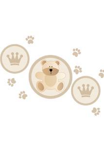 Adesivo De Parede Grudado King Baby Bear Multicolorido