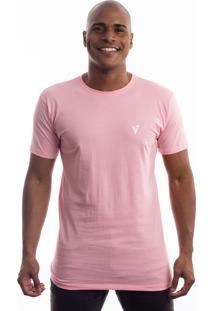 Camiseta Manga Curta Valks Color Rosa