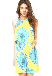 b4742f403 Dafiti. Vestido Colcci Floral Amarelo Azul Curto ...